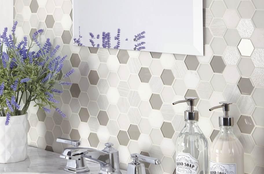 Daltile Idyllic Blends - Tranquil Snow Hexagon