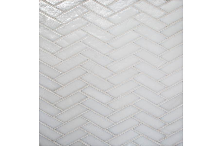 Daltile Illuminary Glass Mosaic - Herringbone Icicle
