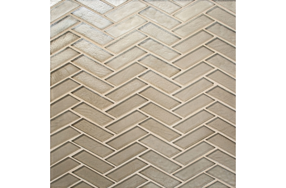 Daltile Illuminary Glass Mosaic - Herringbone Sandbar
