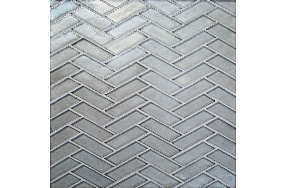 Daltile Illuminary Glass Mosaic - Herringbone Silverlight