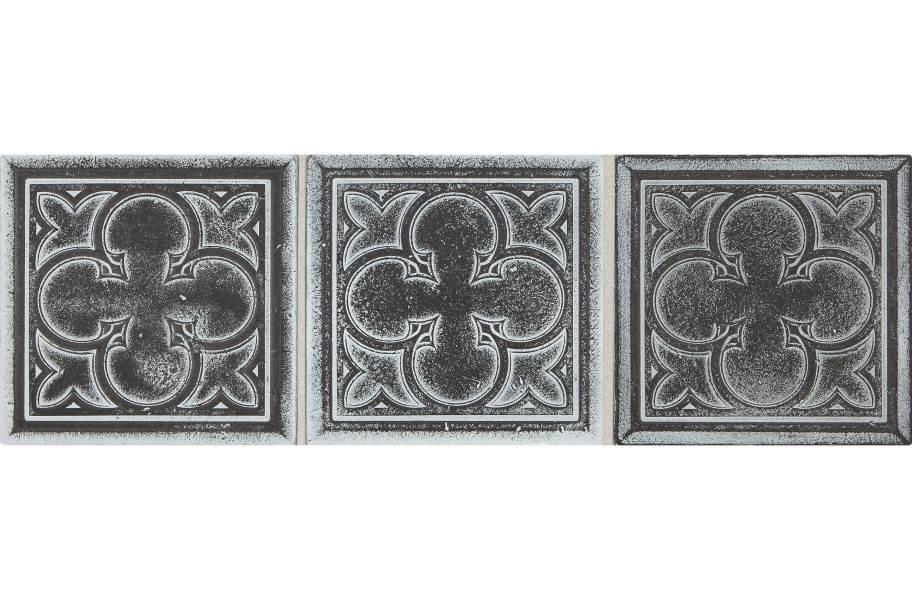 Daltile Vintage Metals - Whitewash Iron Clover