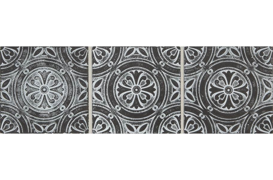 Daltile Vintage Metals - Whitewash Iron Rosette