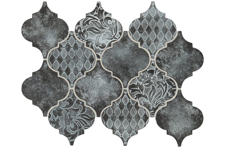 Daltile Vintage Metals - Whitewash Iron Arabesque