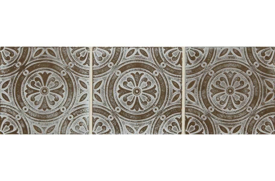 Daltile Vintage Metals - Whitewash Classic Bronze Rosette
