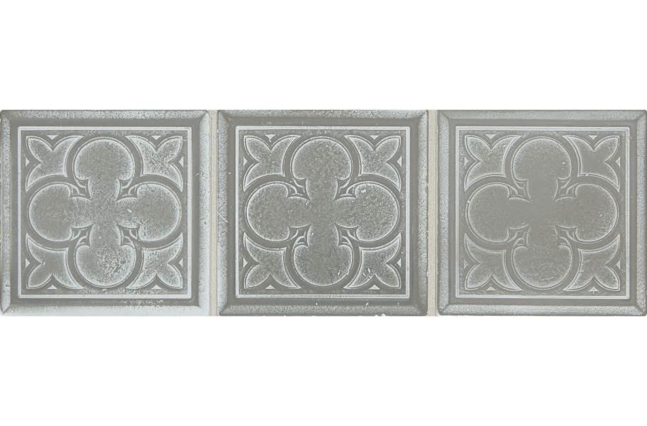 Daltile Vintage Metals - Whitewash Titanium Clover