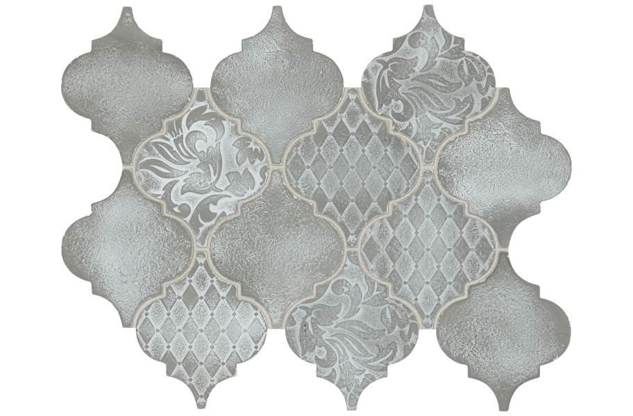 Daltile Vintage Metals - Whitewash Titanium Arabesque