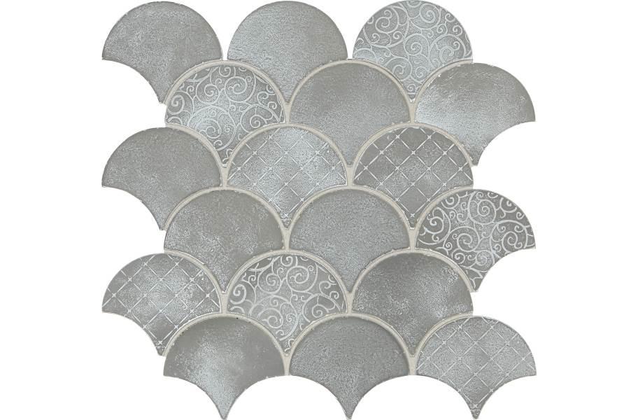 Daltile Vintage Metals - Whitewash Titanium Fan