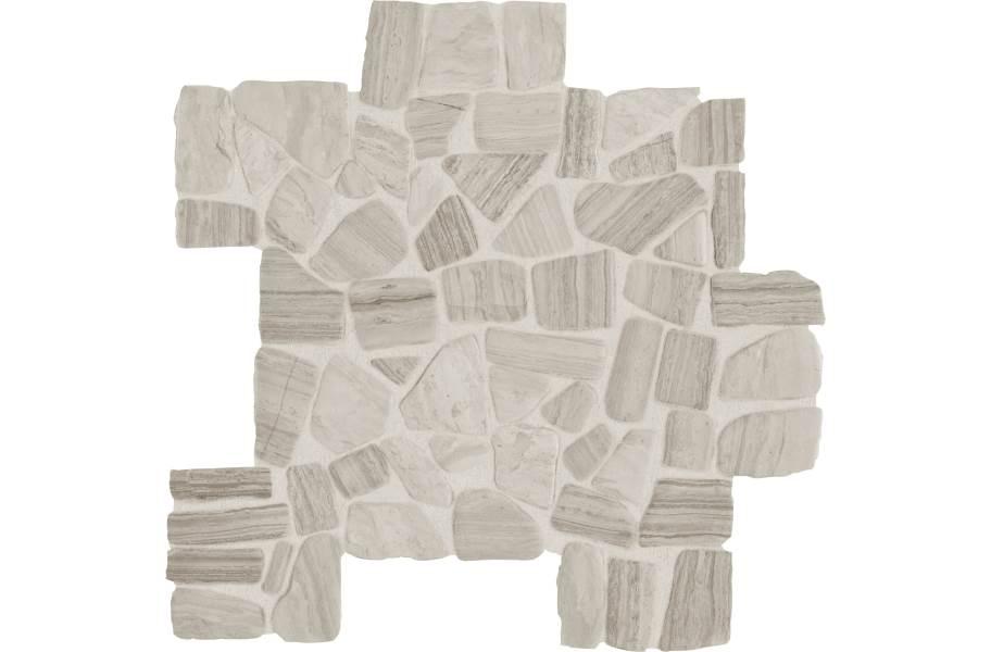 Daltile Stone Decorative Accents - River Pebble Chenille White