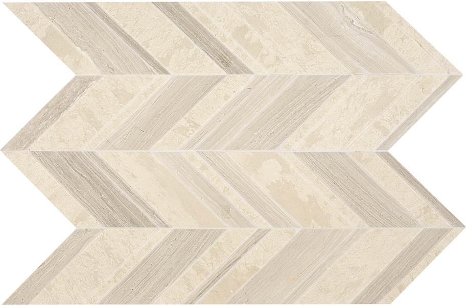 Daltile Stone Decorative Accents - Chevron Fusion Blanc