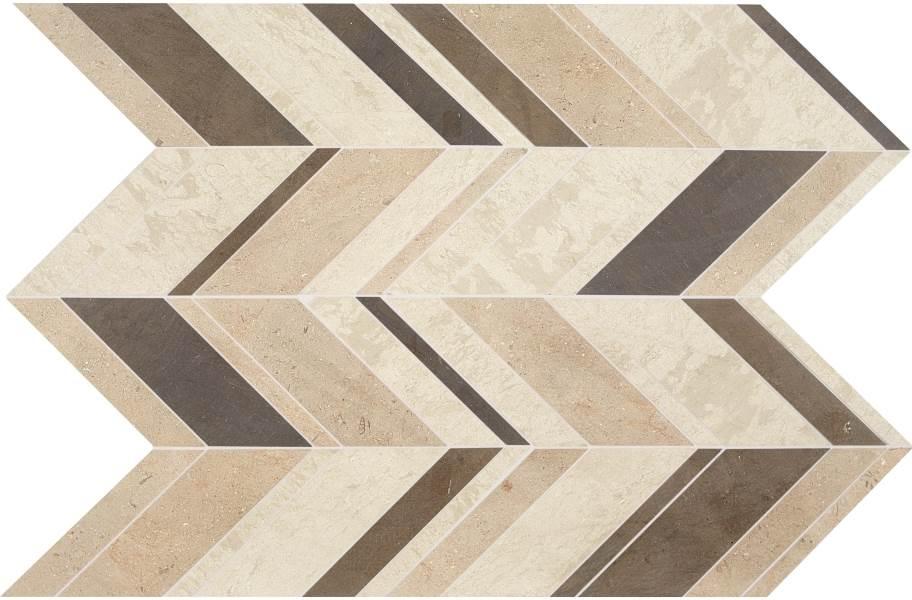 Daltile Stone Decorative Accents - Chevron Fusion Brun