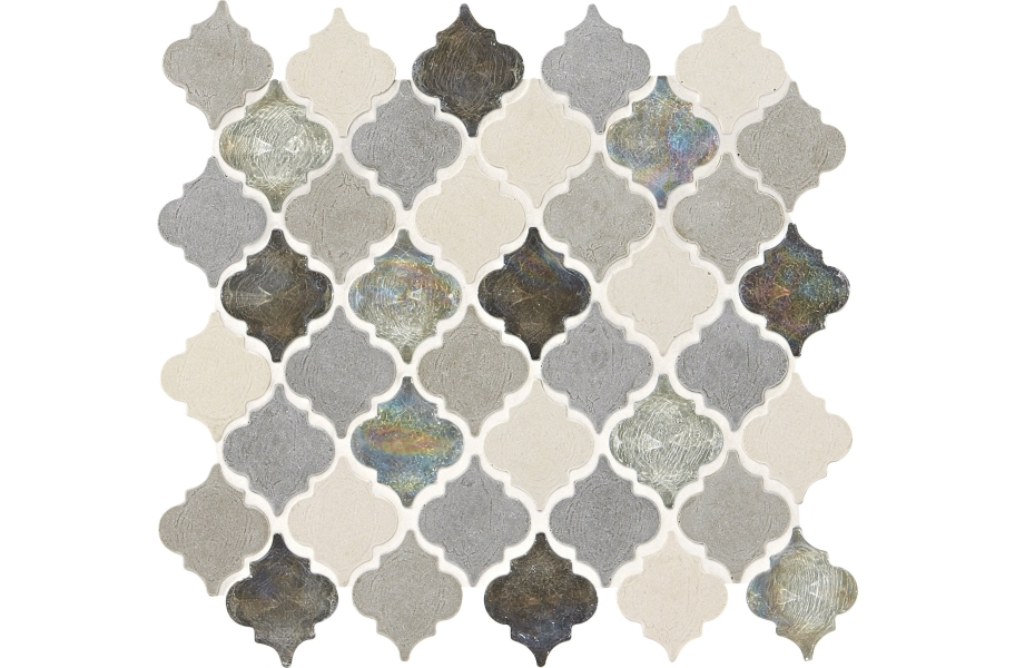 Daltile Stone Decorative Accents - Baroque Gris Et Blanc
