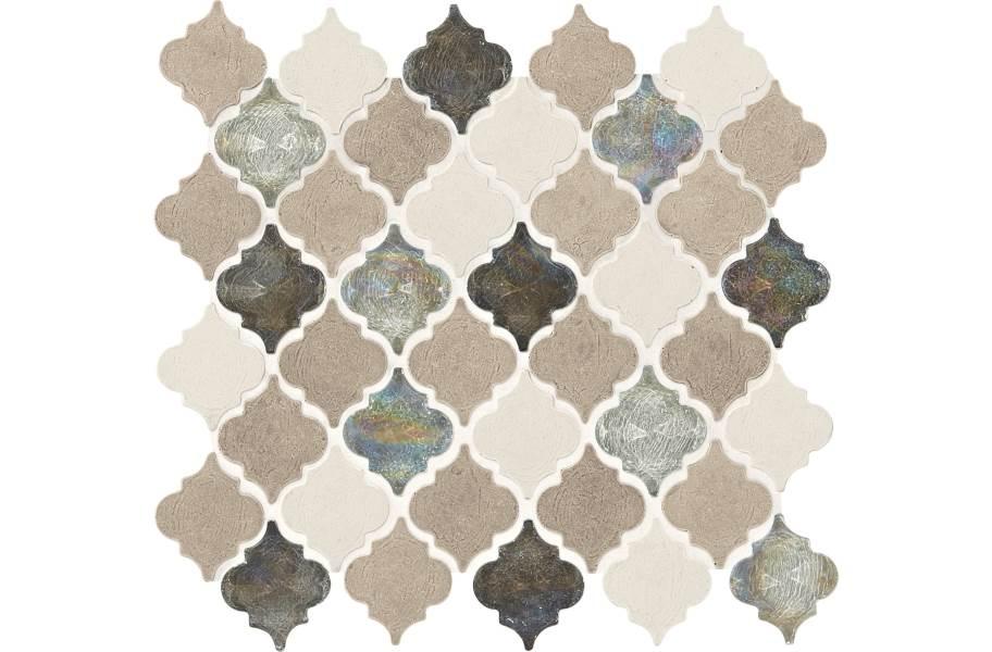 Daltile Stone Decorative Accents - Baroque Blanc Et Beige