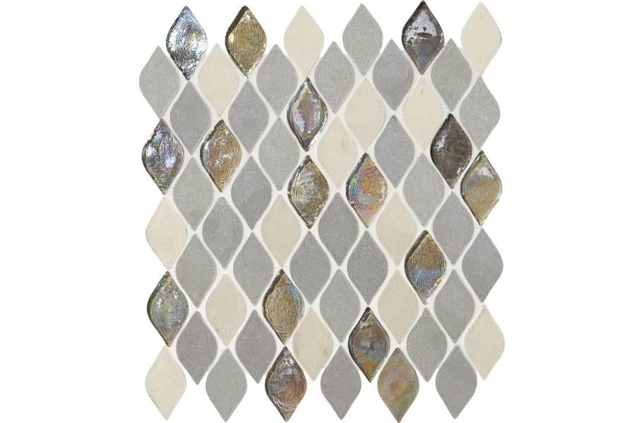 Daltile Stone Decorative Accents - Raindrop Gris Et Blanc