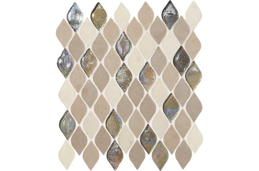 Daltile Stone Decorative Accents - Raindrop Blanc Et Beige