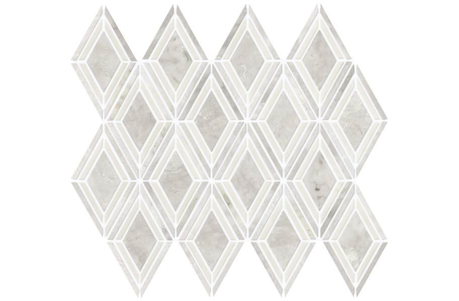 Daltile Stone Decorative Accents - Argyle Blend White