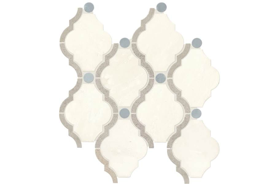 Daltile Stone Decorative Accents - Framed Baroque Empyrean Ice Blend