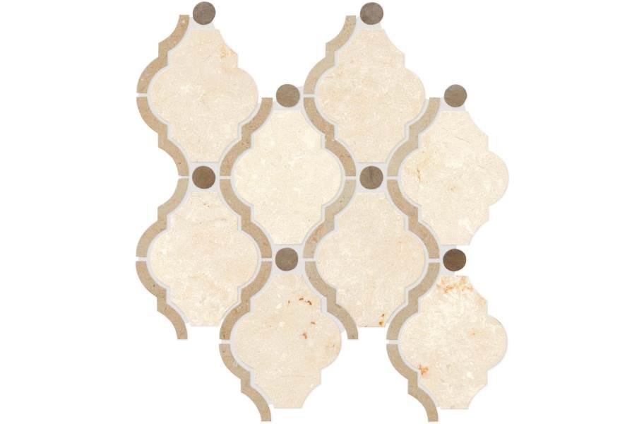 Daltile Stone Decorative Accents - Framed Baroque Latte Blend