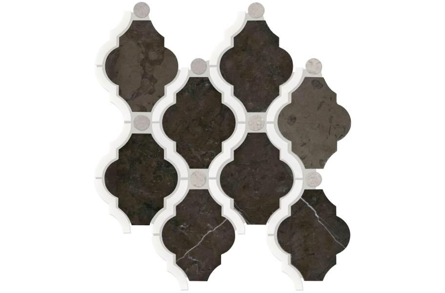 Daltile Stone Decorative Accents - Framed Baroque Antico Scuro Blend