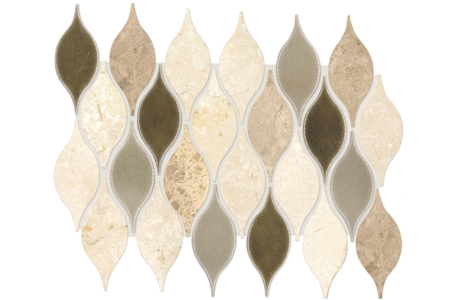 Daltile Stone Decorative Accents - Leaf Lumia Beige