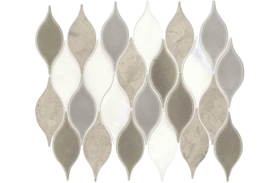 Daltile Stone Decorative Accents - Leaf Lumia Gray