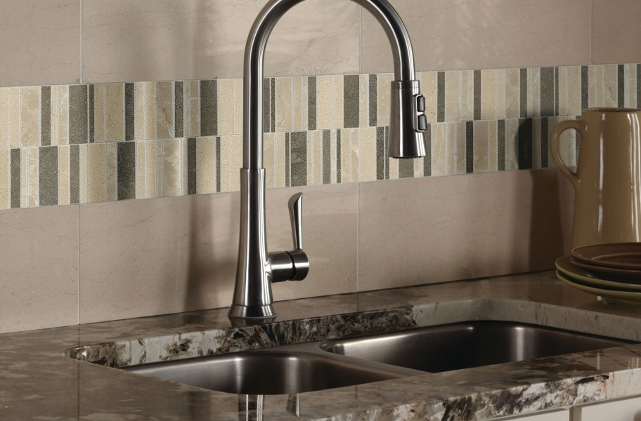 Daltile Stone Decorative Accents - Random Waterfall Warm Blend