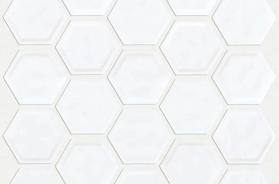 Shaw Geoscape Hexagon Mosaic - White