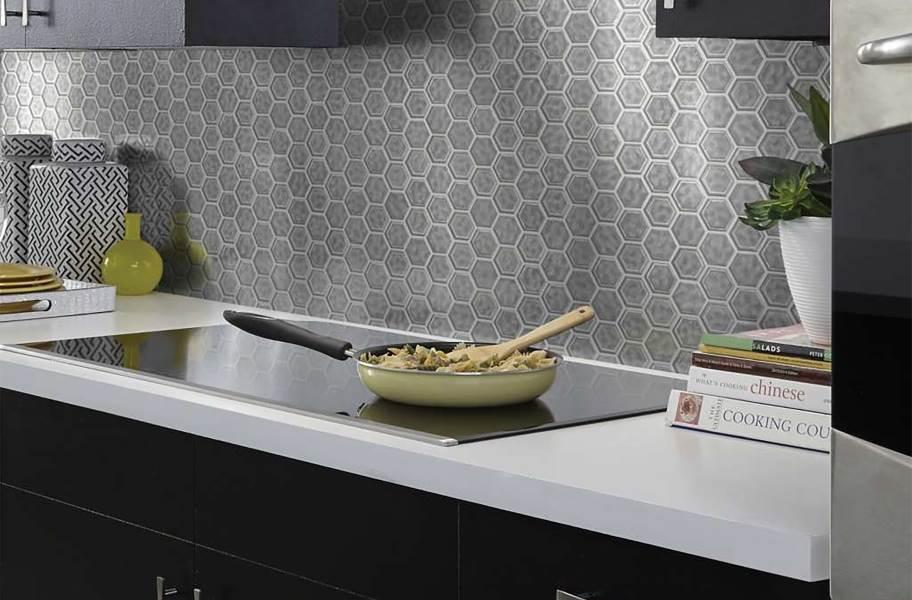 Shaw Geoscape Hexagon Mosaic - Dark Gray
