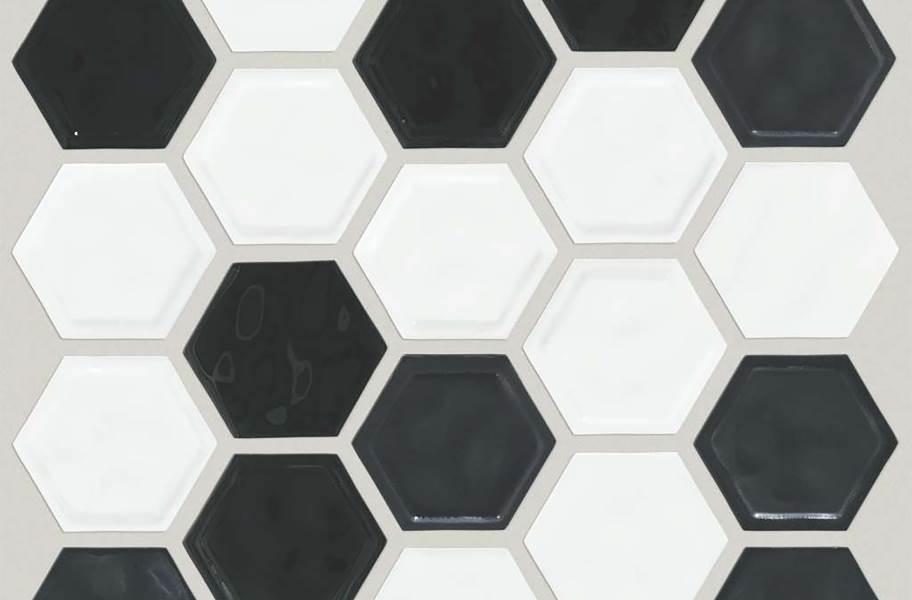 Shaw Geoscape Hexagon Mosaic - Black / White