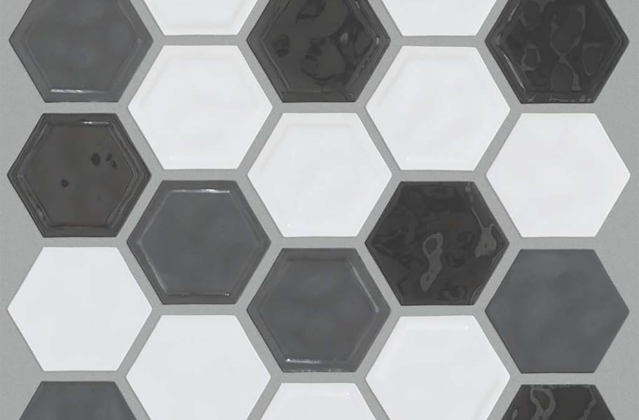 Shaw Geoscape Hexagon Mosaic - Cool Blend