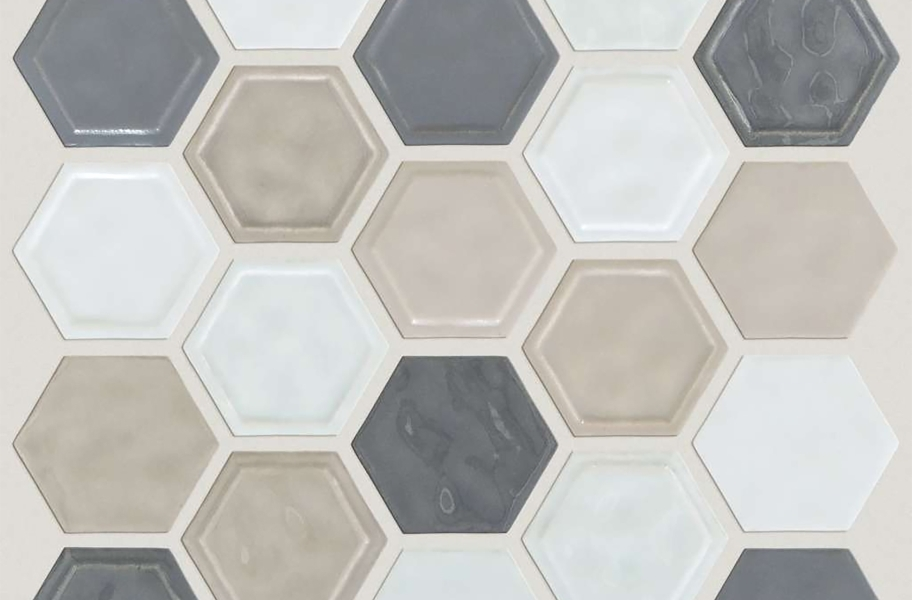 Shaw Geoscape Hexagon Mosaic - Warm Blend
