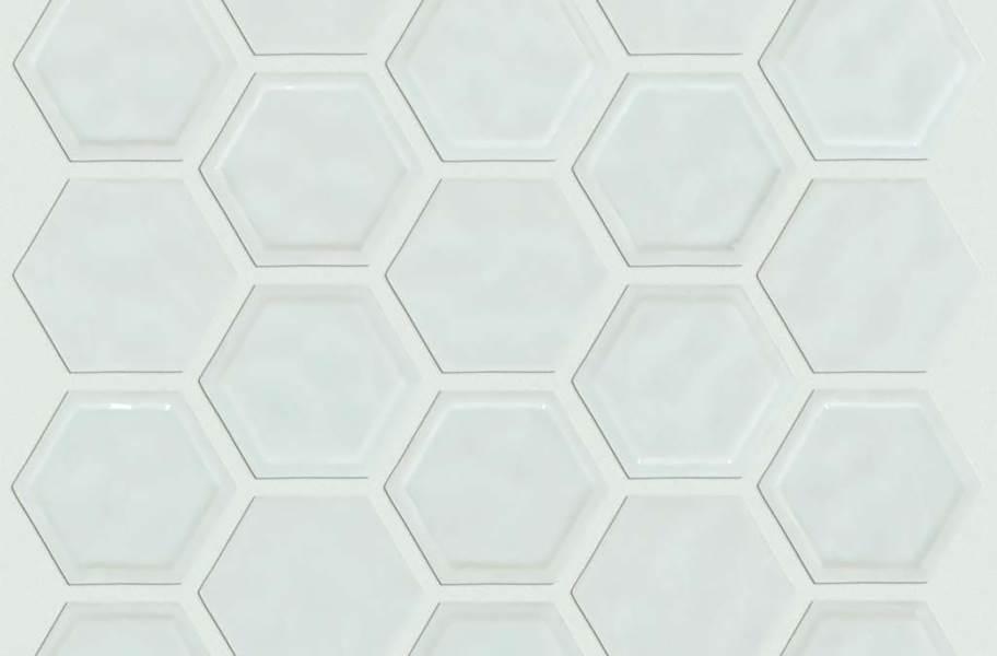 Shaw Geoscape Hexagon Mosaic - Bone