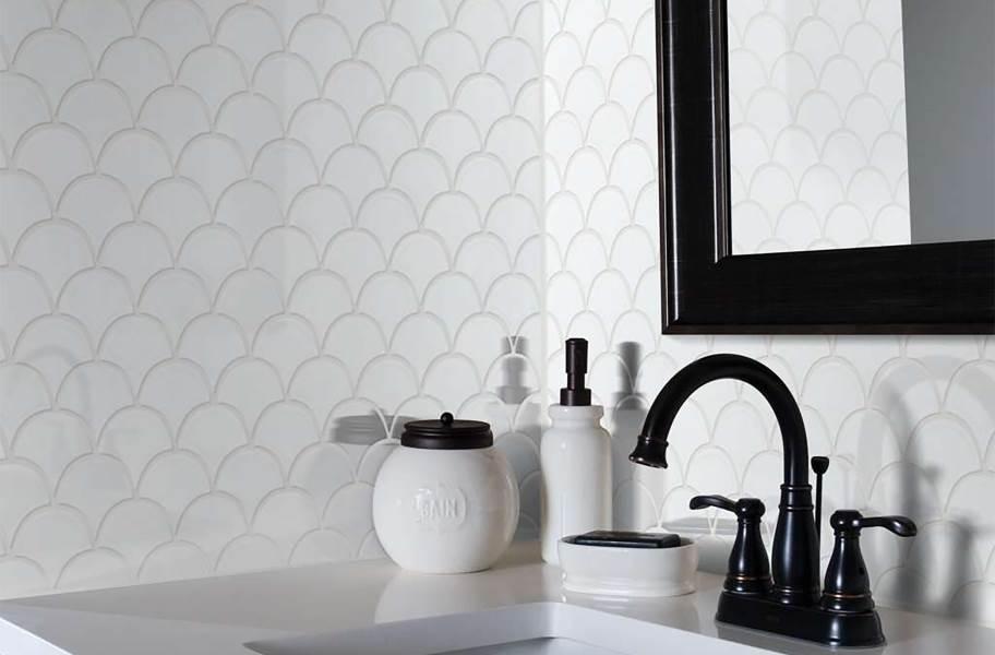Shaw Geoscape Fan Mosaic - White