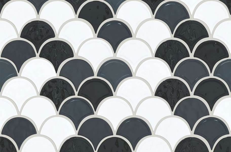 Shaw Geoscape Fan Mosaic - Black / White