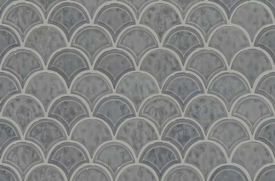 Shaw Geoscape Fan Mosaic - Dark Gray