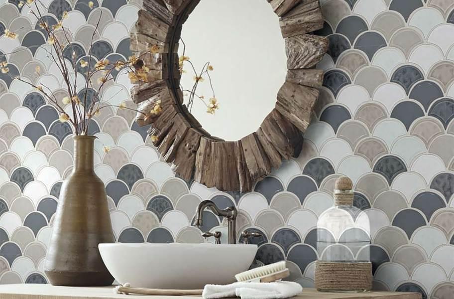 Shaw Geoscape Fan Mosaic - Warm Blend