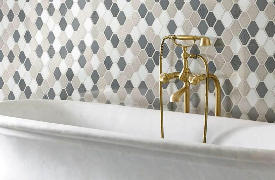 Shaw Geoscape Diamond Mosaic - Warm Blend