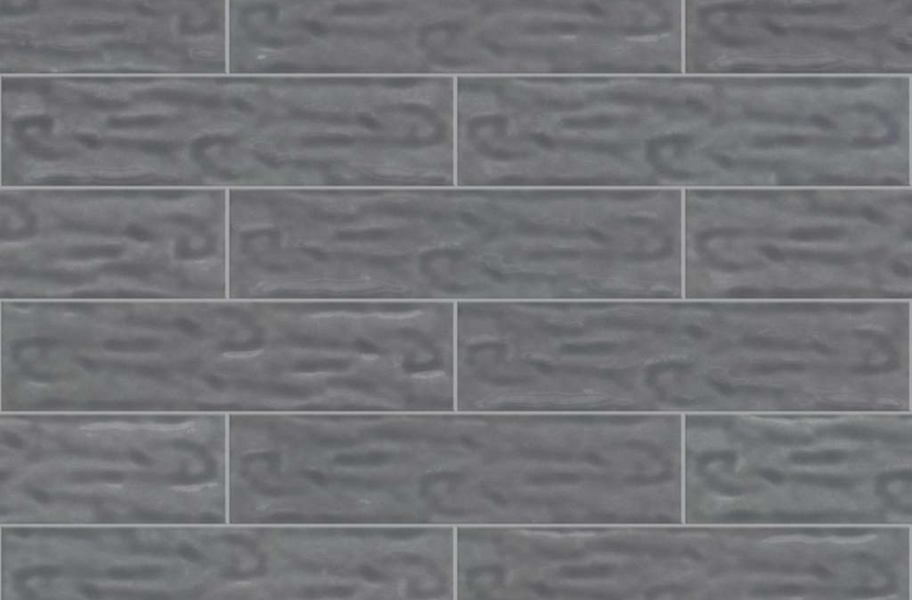 Shaw Geoscape Subway Wall Tiles - Dark Gray 4x16