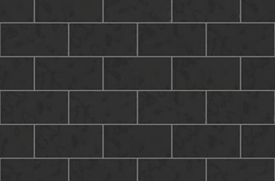 Shaw Geoscape Subway Wall Tiles - Black 3x6
