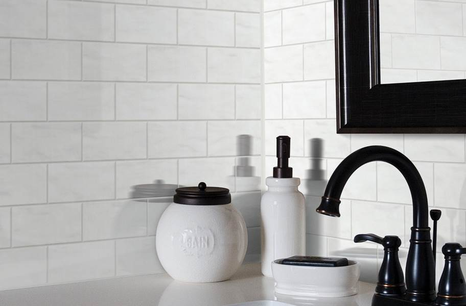 Shaw Geoscape Subway Wall Tiles - White