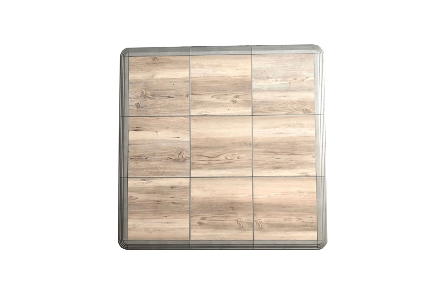 Dancetrax Tiles - Ash Pine w/Pearl Grey Edging