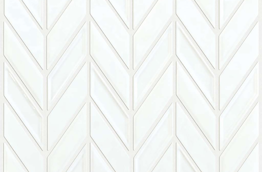 Shaw Geoscape Chevron Mosaic - White