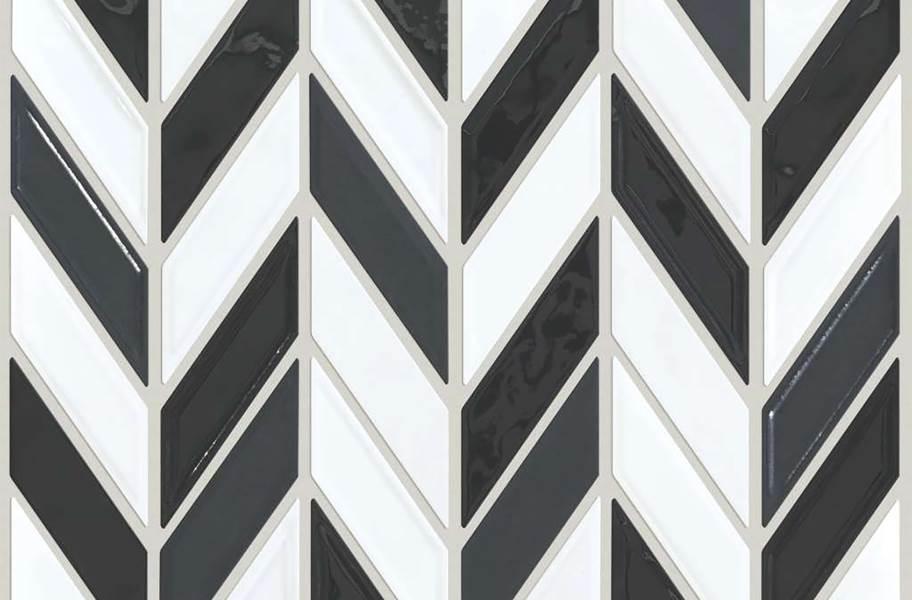 Shaw Geoscape Chevron Mosaic - Black & White