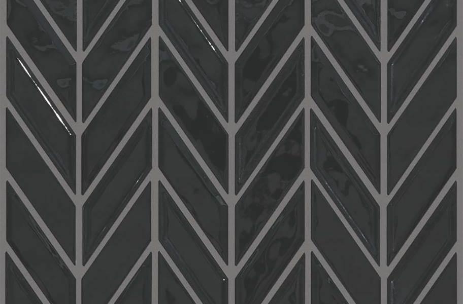 Shaw Geoscape Chevron Mosaic - Black