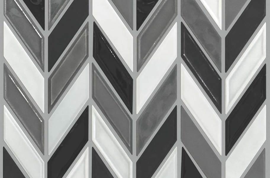 Shaw Geoscape Chevron Mosaic - Cool Blend