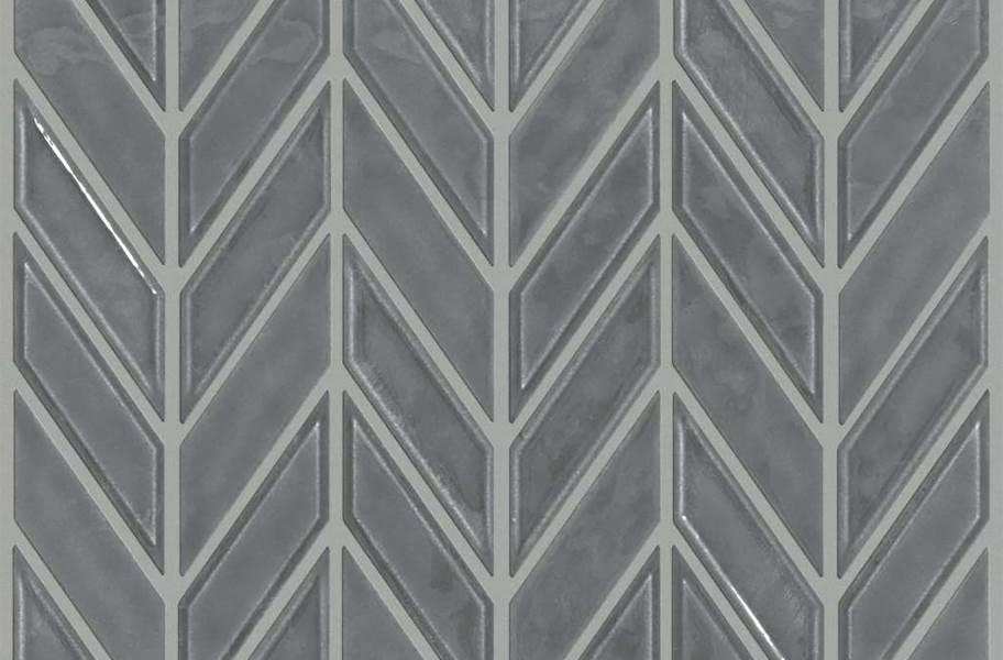 Shaw Geoscape Chevron Mosaic - Dark Grey