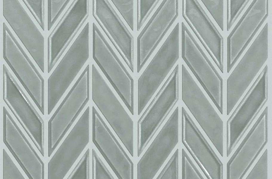 Shaw Geoscape Chevron Mosaic - Light Grey