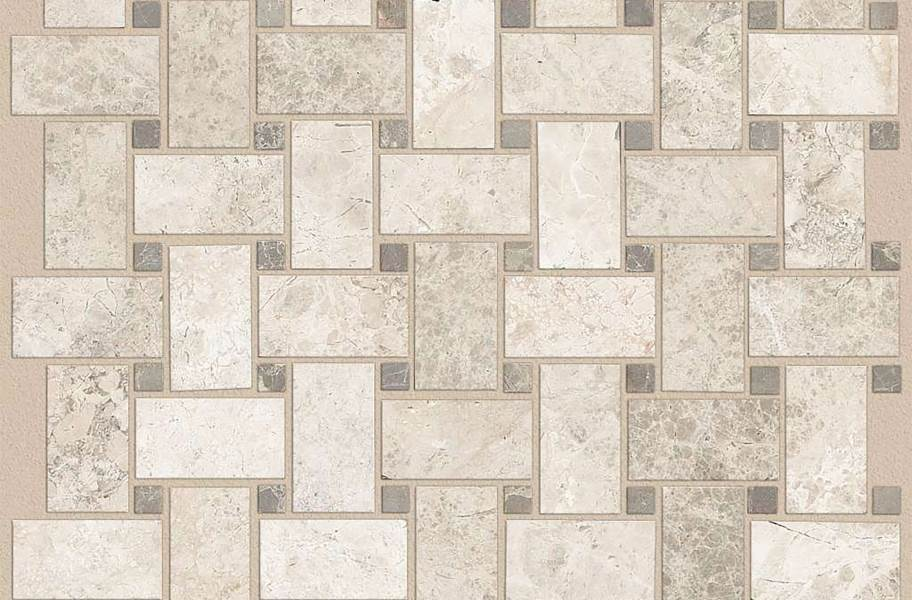 Shaw Boca Natural Stone Mosaic - Basketweave - Harbor