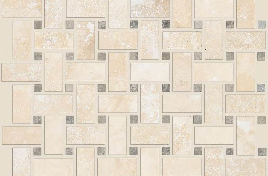 Shaw Boca Natural Stone Mosaic - Basketweave - Point Break