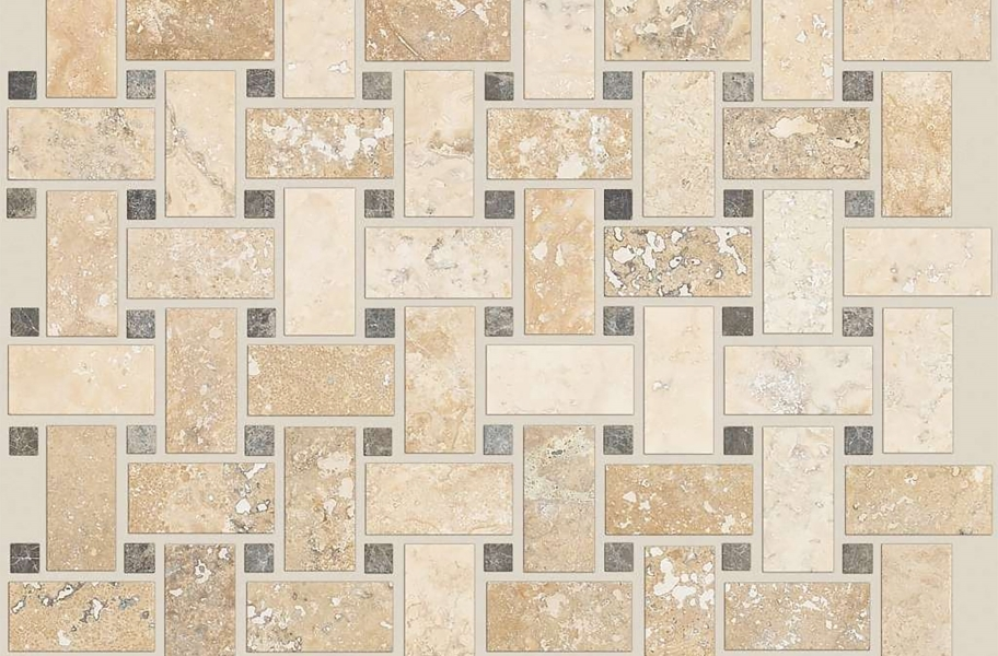 Shaw Boca Natural Stone Mosaic - Basketweave - Spinnaker