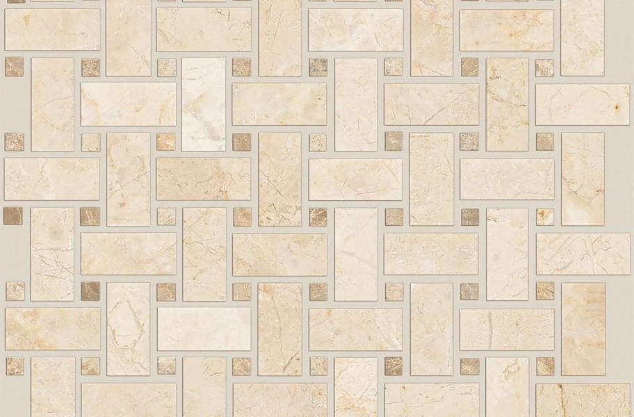 Shaw Boca Natural Stone Mosaic - Basketweave - Windsurf
